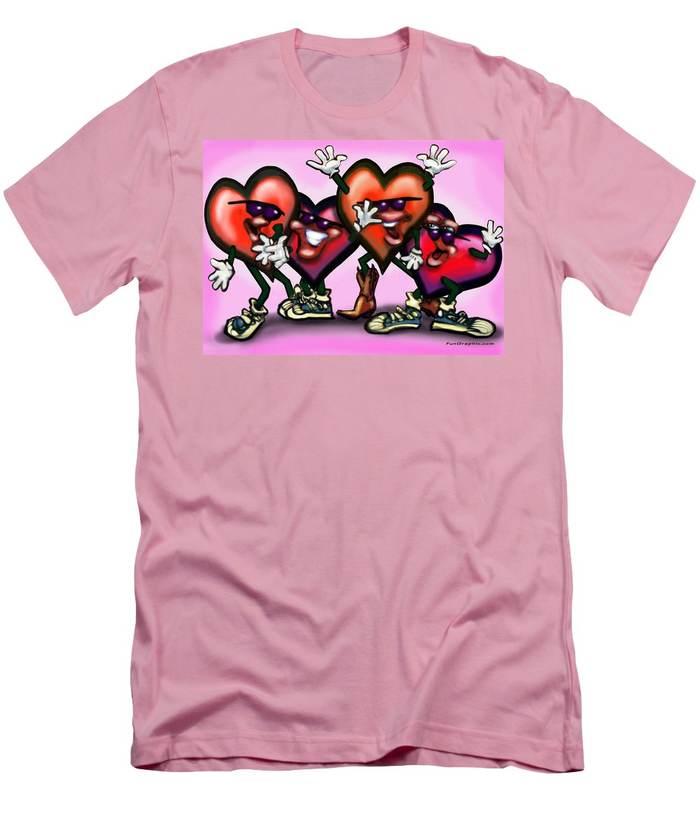 Heart Men's T-Shirt (Athletic Fit) featuring the digital art Hearts Gang by Kevin Middleton