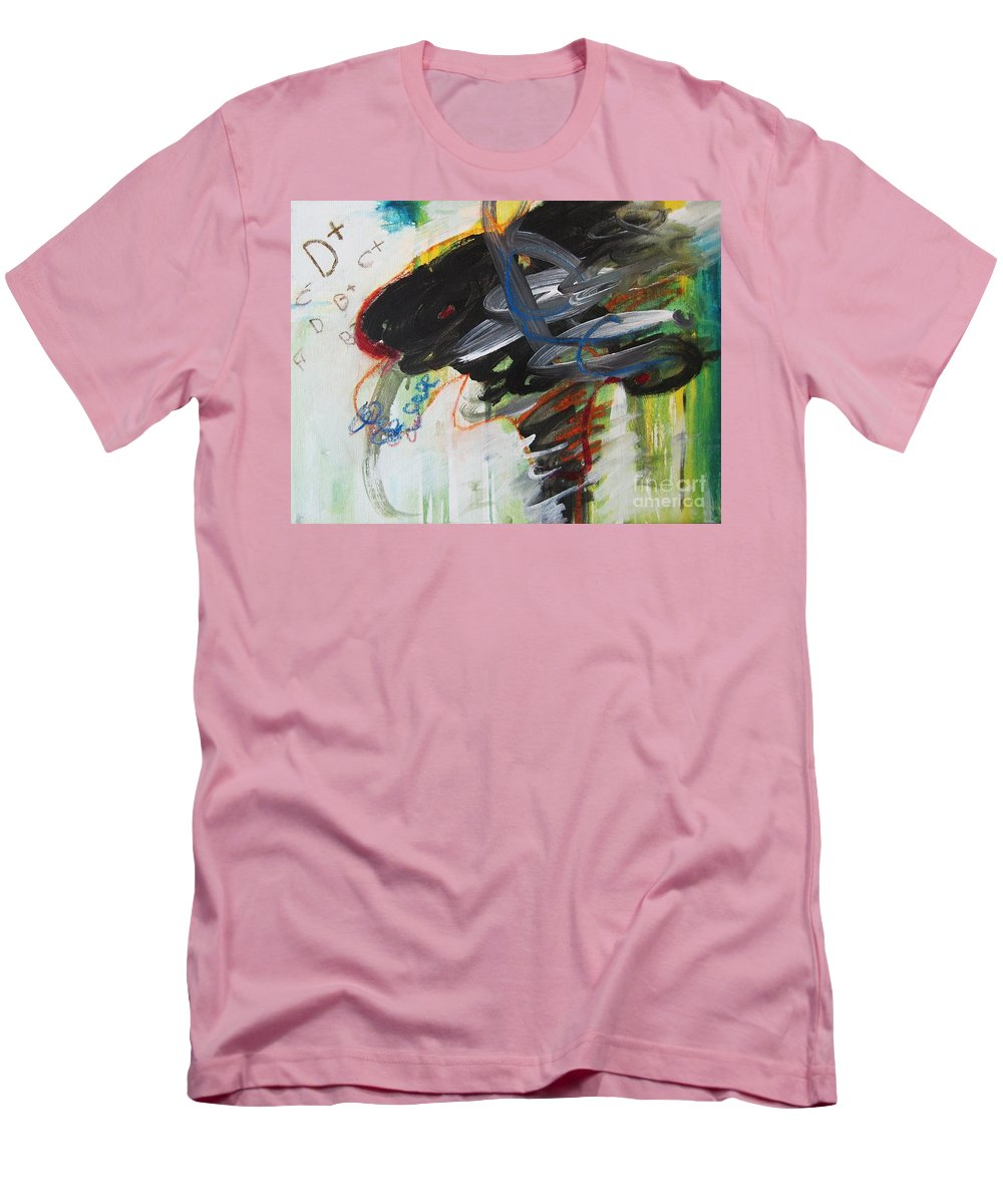 Abstract Paintings Paintings Abstract Art Paintings Men's T-Shirt (Athletic Fit) featuring the painting I Got D by Seon-Jeong Kim