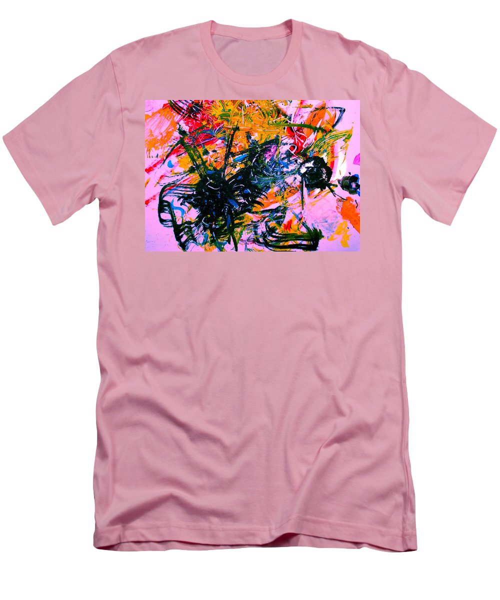 Abstract Men's T-Shirt (Athletic Fit) featuring the painting Intrigue by Natalie Holland