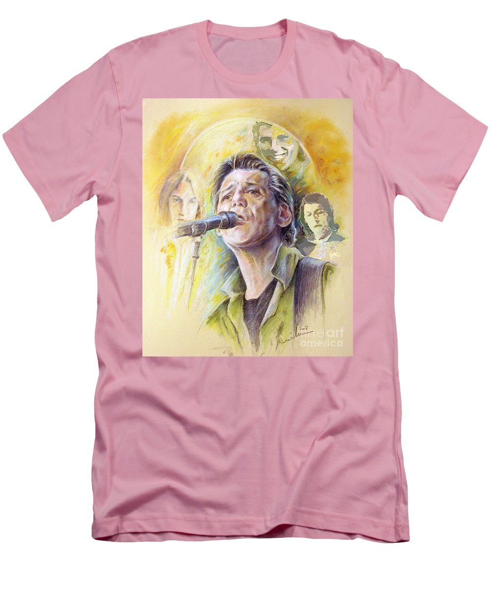 Jeff Christie Men's T-Shirt (Athletic Fit) featuring the painting Jeff Christie by Miki De Goodaboom