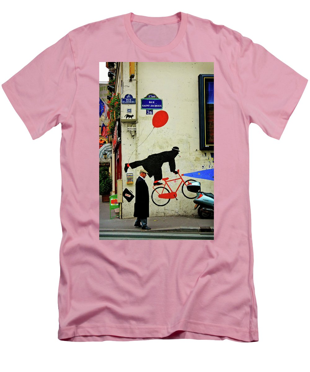 Paris Men's T-Shirt (Athletic Fit) featuring the photograph Kick In The Head by Skip Hunt