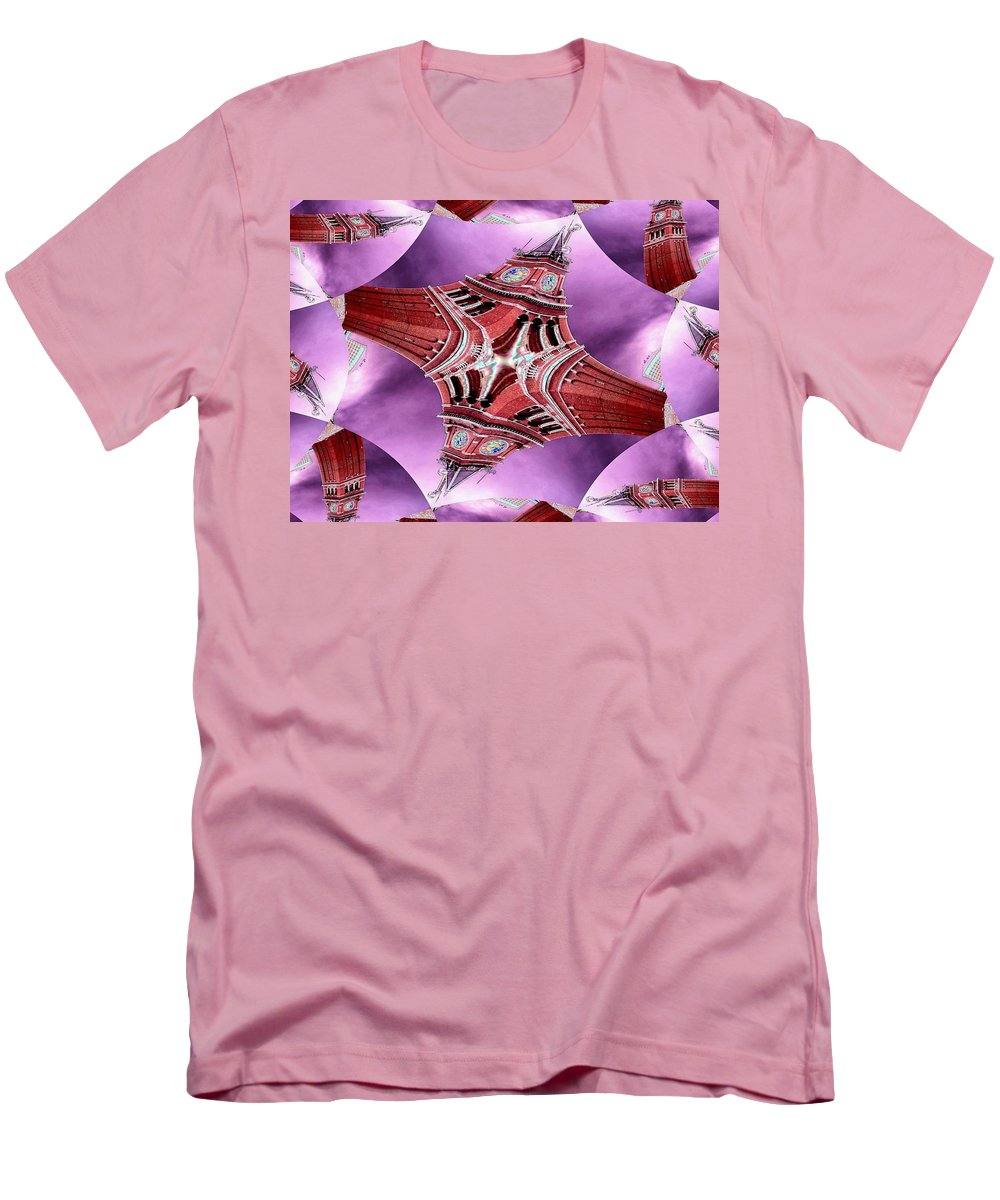 Seattle Men's T-Shirt (Athletic Fit) featuring the digital art King Street Station In Fractal by Tim Allen
