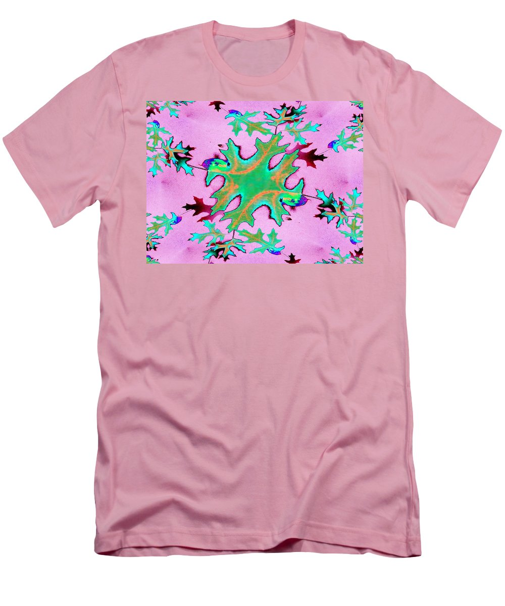 Leaf Men's T-Shirt (Athletic Fit) featuring the photograph Leaves In Fractal by Tim Allen