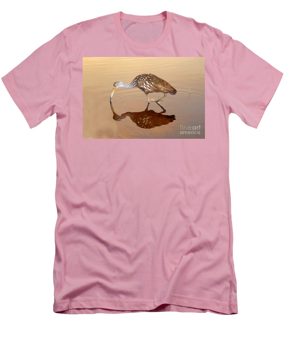 Limpkin Men's T-Shirt (Athletic Fit) featuring the photograph Limpkin In The Mirror by David Lee Thompson