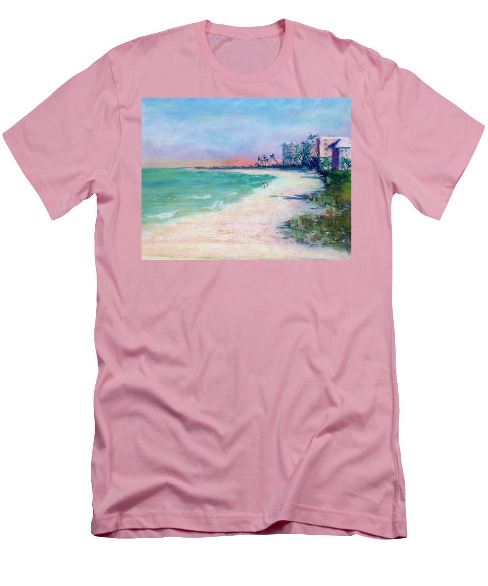 Lowdermilk Park Men's T-Shirt (Athletic Fit) featuring the painting Lowdermilk Park North by Laurie Paci