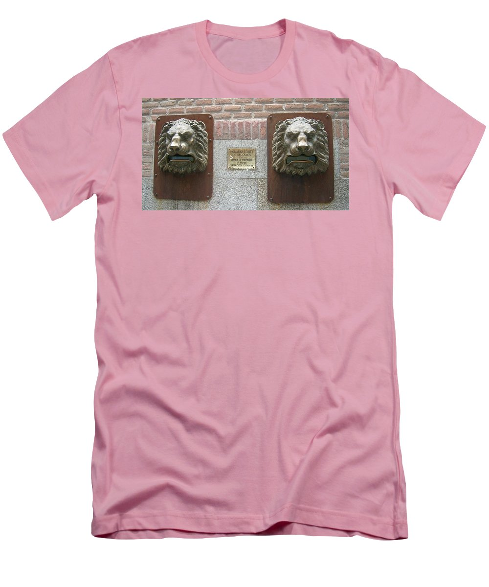 Mailbox Men's T-Shirt (Athletic Fit) featuring the photograph Mailboxes In Toledo Spain by Valerie Ornstein