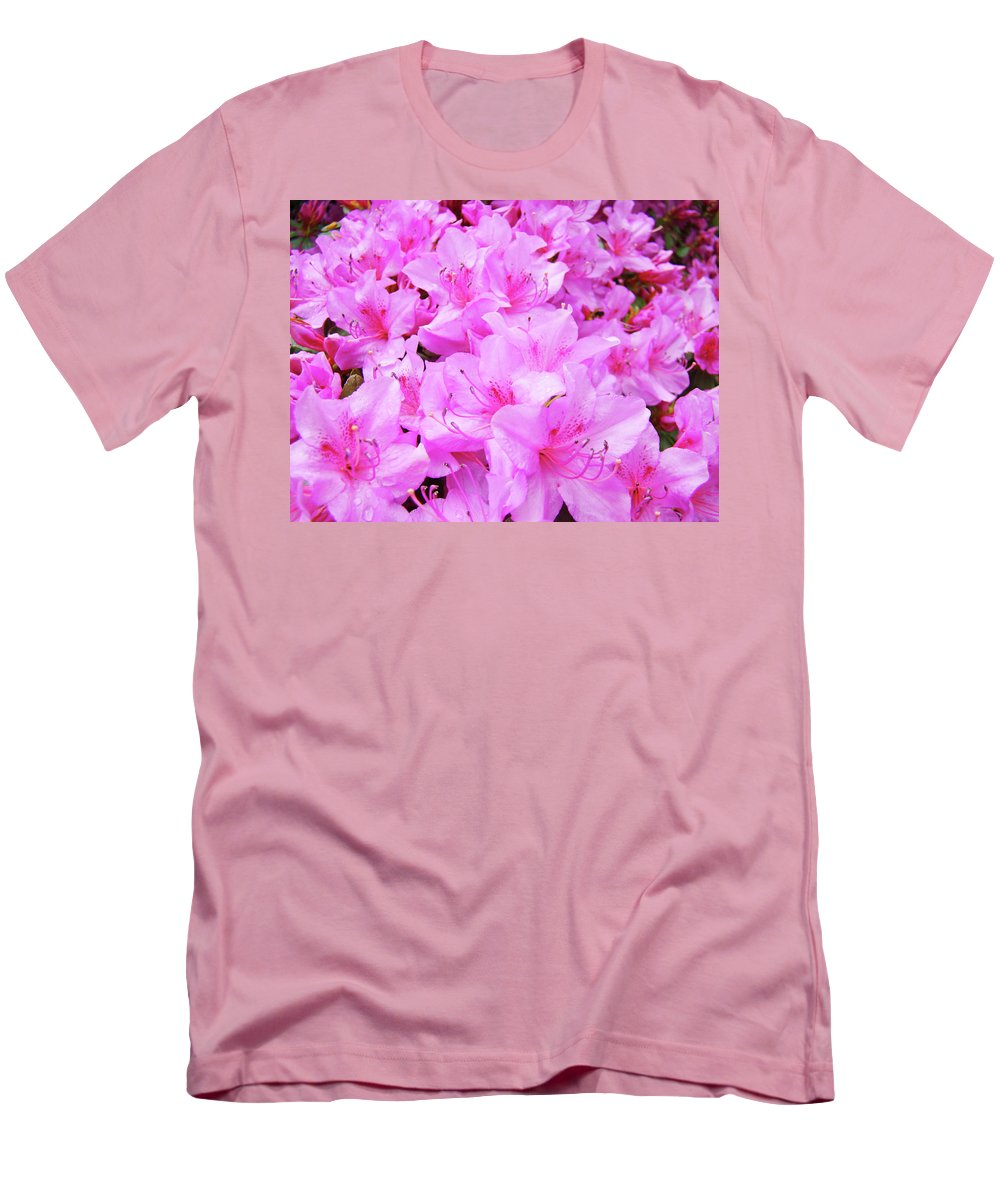 Azalea Men's T-Shirt (Athletic Fit) featuring the photograph Office Art Azalea Flowers Botanical 31 Azaleas Giclee Art Prints Baslee Troutman by Baslee Troutman