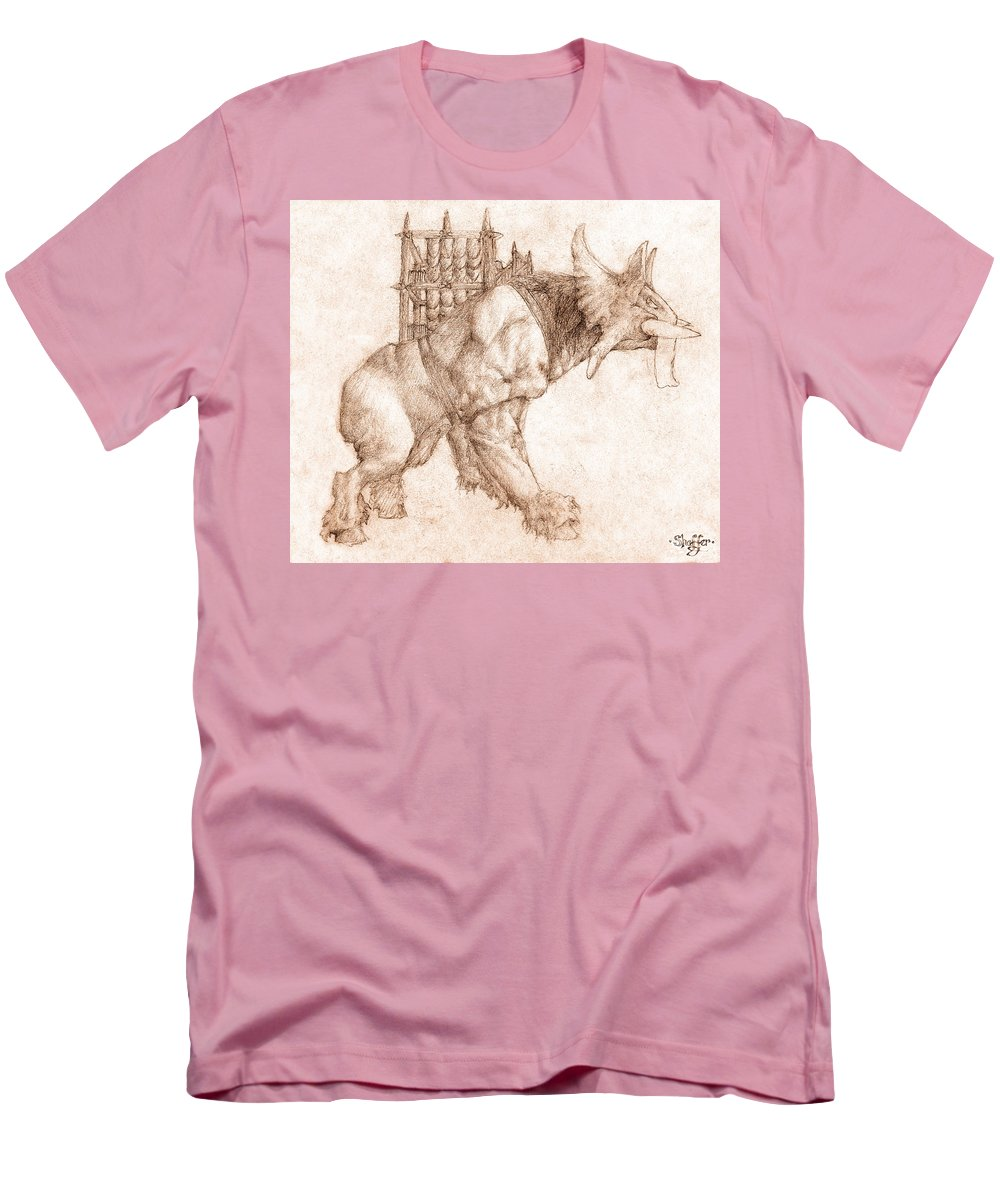 Lord Of The Rings Men's T-Shirt (Athletic Fit) featuring the drawing Oliphaunt by Curtiss Shaffer