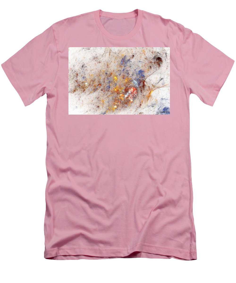 Abstract Men's T-Shirt (Athletic Fit) featuring the digital art Paean To Pollack by Casey Kotas