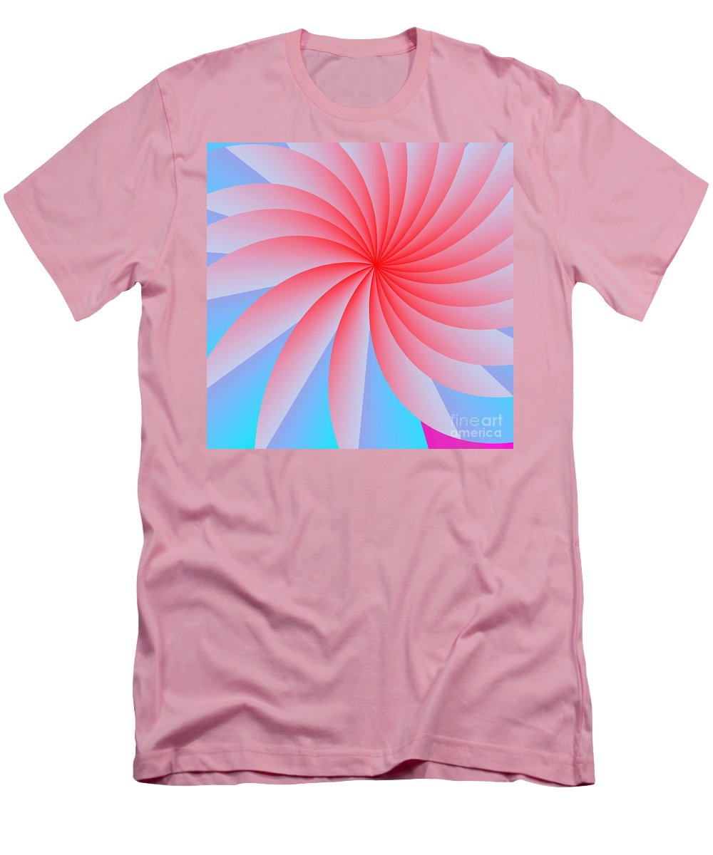 Abstract Men's T-Shirt (Athletic Fit) featuring the digital art Pink Passion Flower by Michael Skinner