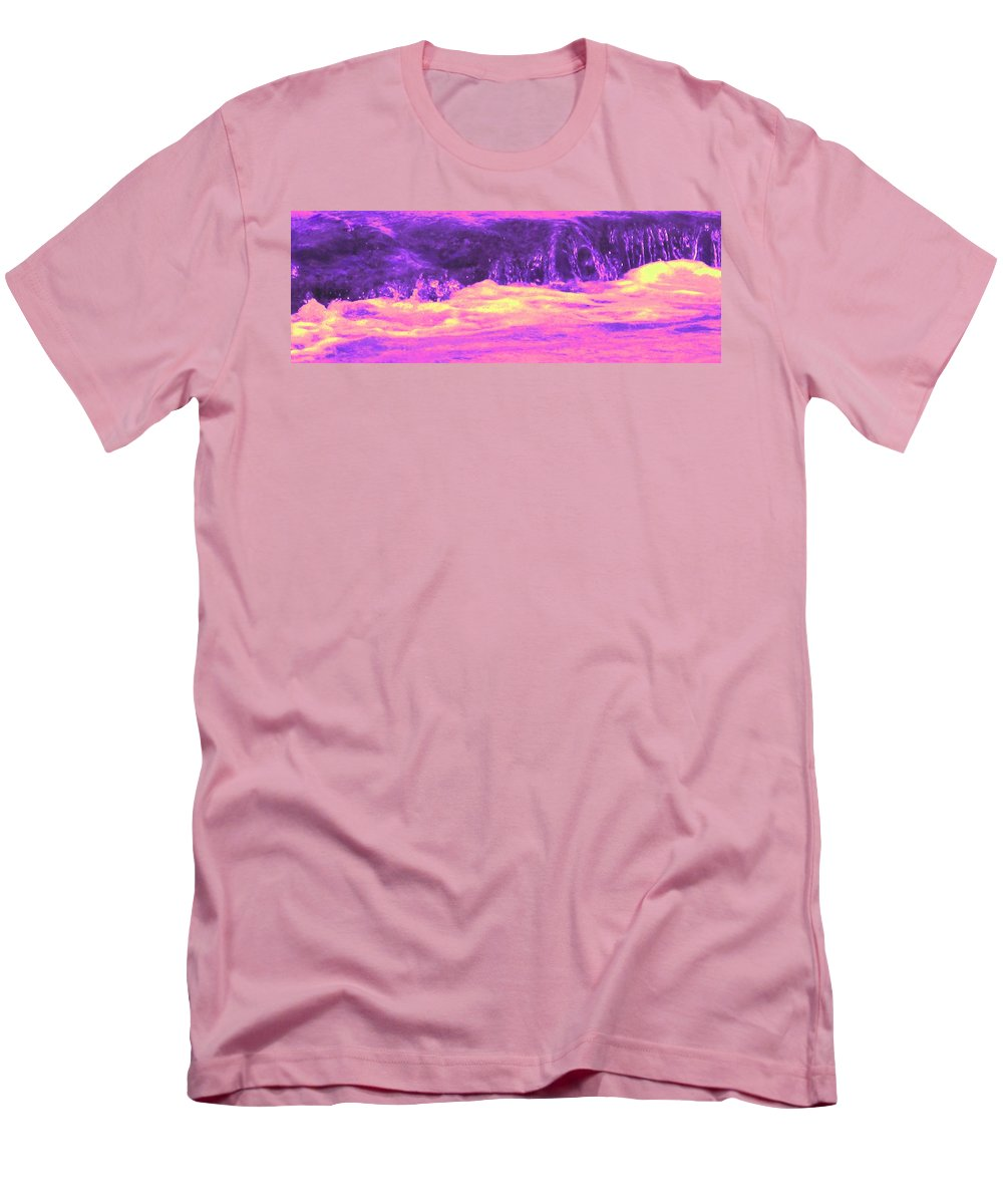 Seascape Men's T-Shirt (Athletic Fit) featuring the photograph Pink Tidal Pool by Ian MacDonald