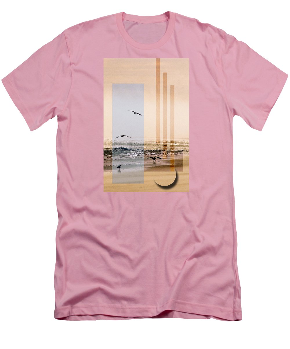 Abstract Men's T-Shirt (Athletic Fit) featuring the photograph Shore Collage by Steve Karol