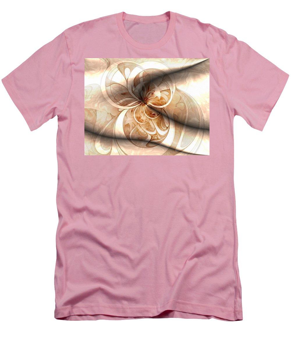 Digital Art Men's T-Shirt (Athletic Fit) featuring the digital art Silk by Amanda Moore