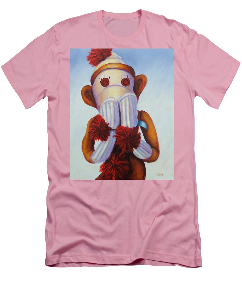 Children Men's T-Shirt (Athletic Fit) featuring the painting Speak No Bad Stuff by Shannon Grissom