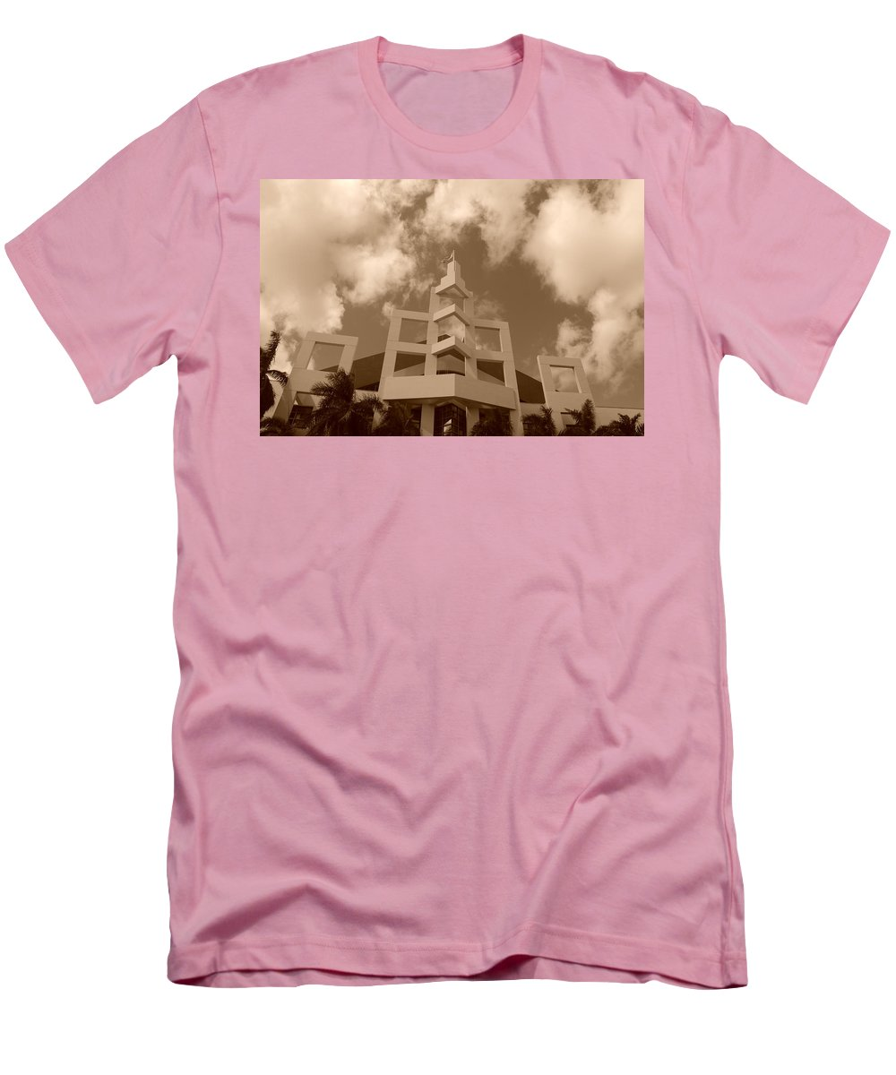 Architecture Men's T-Shirt (Athletic Fit) featuring the photograph Squares In The Sky by Rob Hans