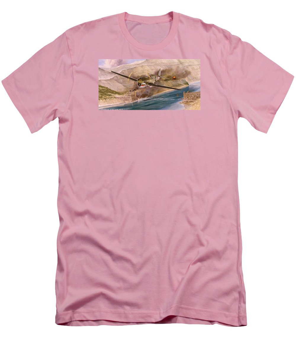 Painting Men's T-Shirt (Athletic Fit) featuring the painting Tex Hill Over The Salween Gorge by Marc Stewart