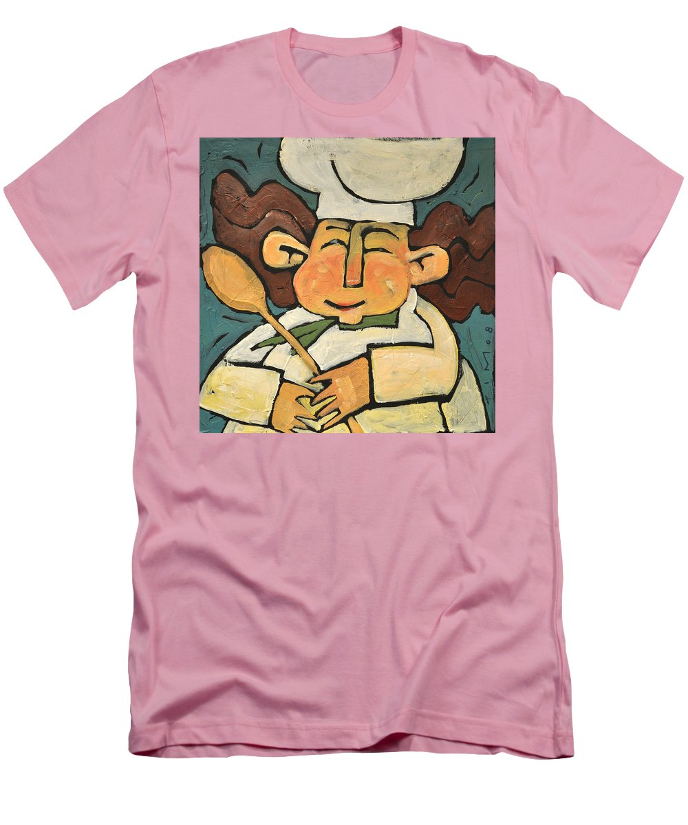 Chef Men's T-Shirt (Athletic Fit) featuring the painting The Happy Chef by Tim Nyberg