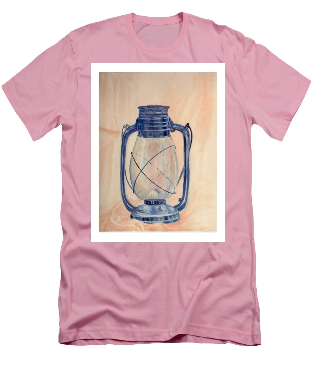 Lantern Men's T-Shirt (Athletic Fit) featuring the painting The Old Lantern by Asha Sudhaker Shenoy
