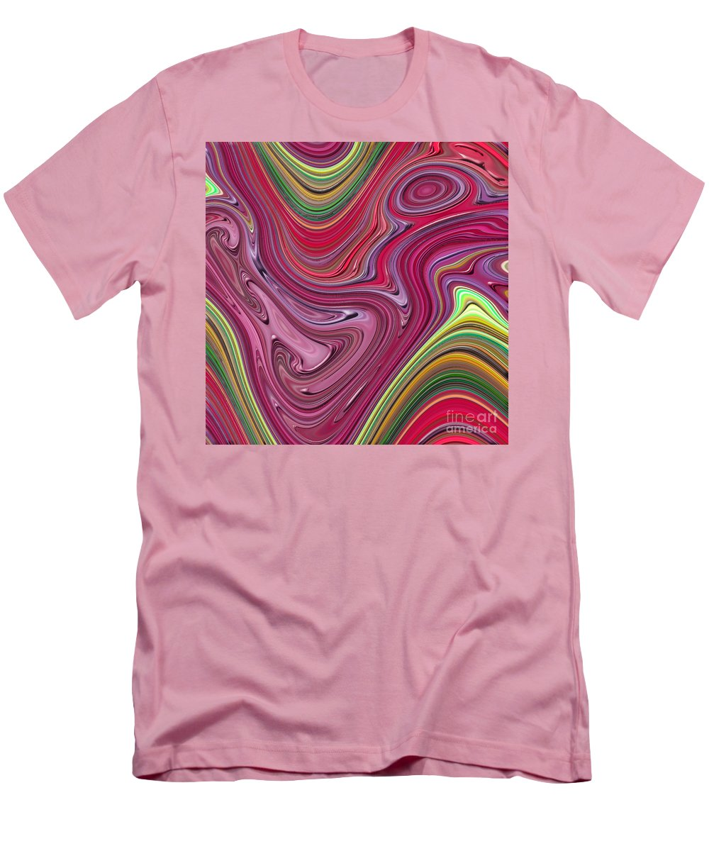 Colorful Men's T-Shirt (Athletic Fit) featuring the digital art Thick Paint Abstract by Melissa A Benson