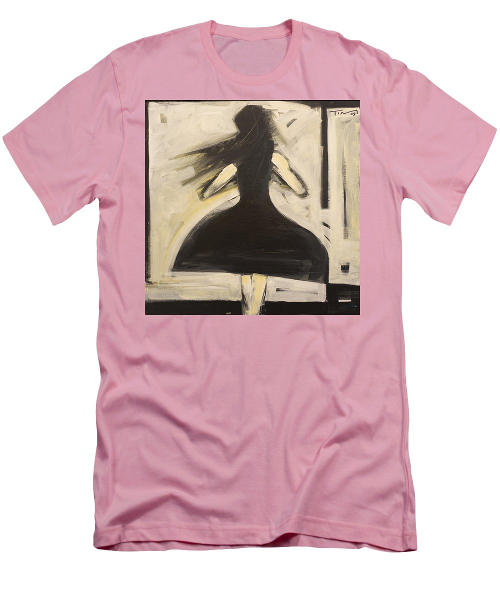 Twirl Men's T-Shirt (Athletic Fit) featuring the painting Twirling by Tim Nyberg