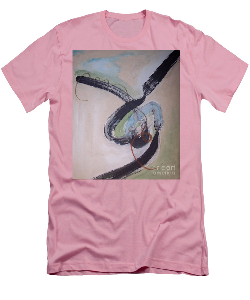 Abstract Paintings Men's T-Shirt (Athletic Fit) featuring the painting Unaccustomed Thought-abstract Art by Seon-Jeong Kim