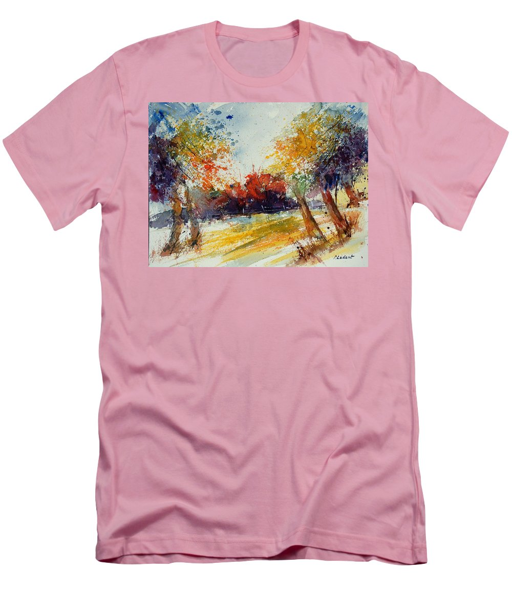 Tree Men's T-Shirt (Athletic Fit) featuring the painting Watercolor 902010 by Pol Ledent