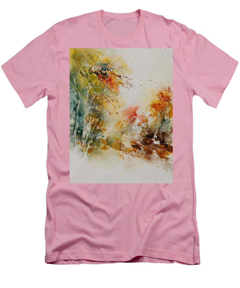 Tree Men's T-Shirt (Athletic Fit) featuring the painting Watercolor 905022 by Pol Ledent