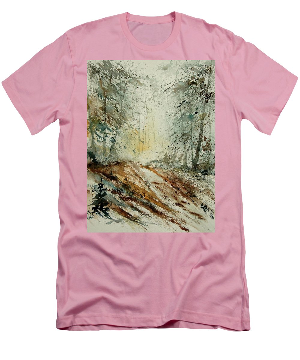 River Men's T-Shirt (Athletic Fit) featuring the painting Watercolor 907013 by Pol Ledent