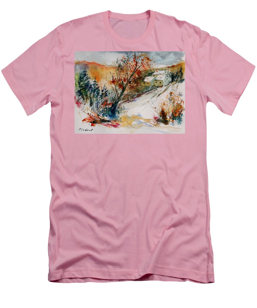 Tree Men's T-Shirt (Athletic Fit) featuring the painting Watercolor 908002 by Pol Ledent