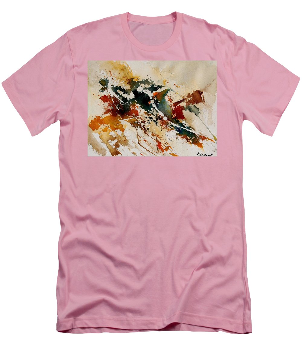 Abstract Men's T-Shirt (Athletic Fit) featuring the painting Watercolor 90861 by Pol Ledent
