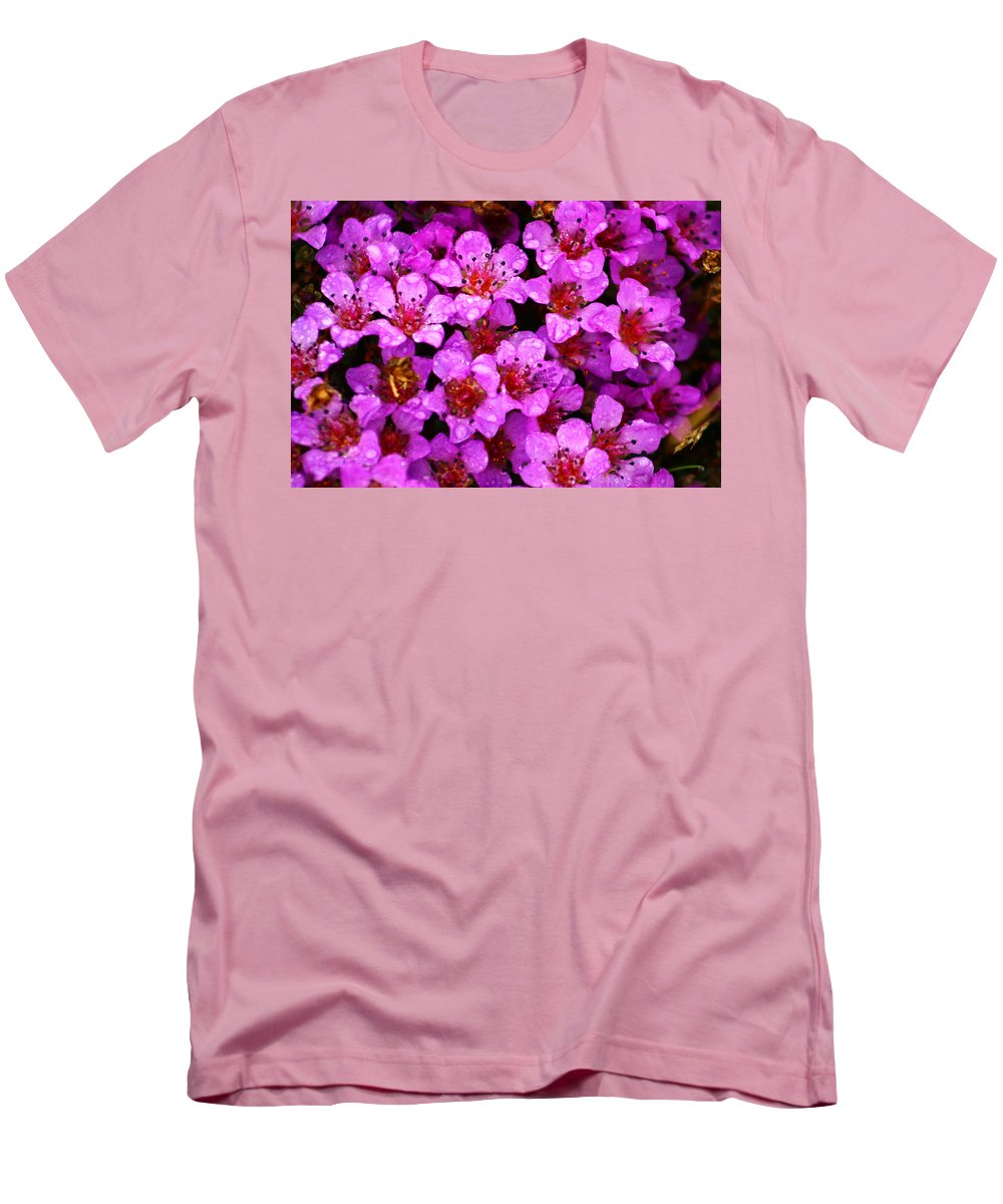 Wild Flowers Men's T-Shirt (Athletic Fit) featuring the photograph Wildflowers by Anthony Jones