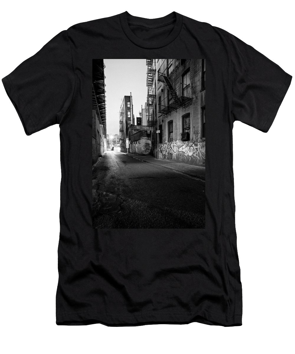 Chinatown Men's T-Shirt (Athletic Fit) featuring the photograph Chinatown New York City - Mechanics Alley by Gary Heller