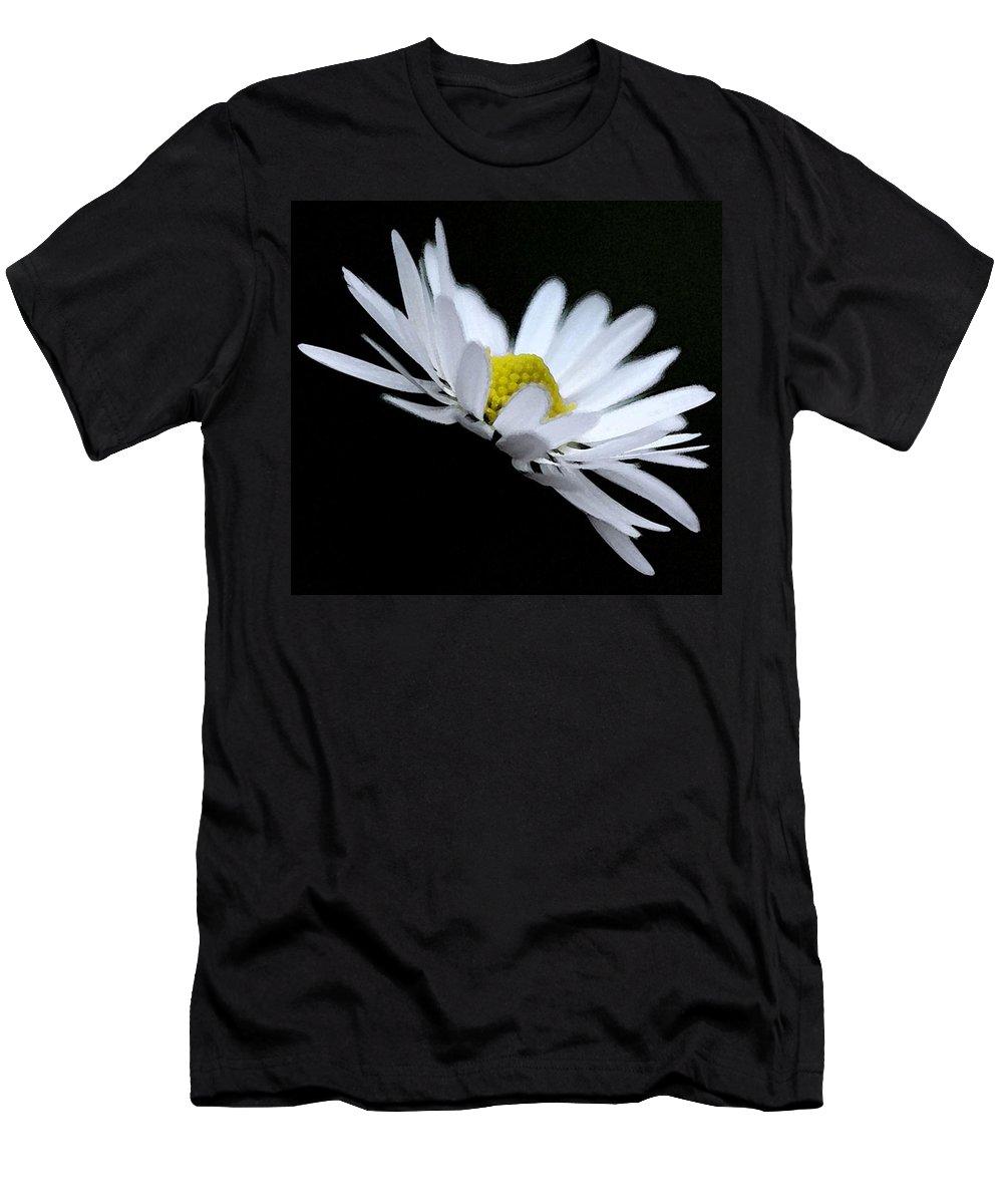 Daisy Men's T-Shirt (Athletic Fit) featuring the digital art Daisy 4 by Carol Lynch