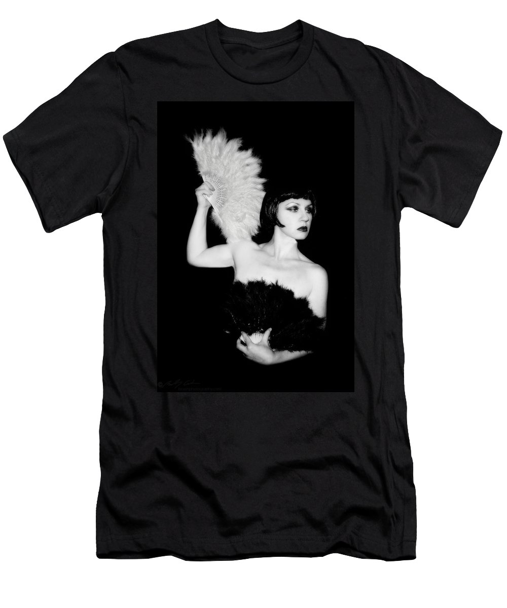 Retro Men's T-Shirt (Athletic Fit) featuring the photograph Feather Dancer by Beverly Cash