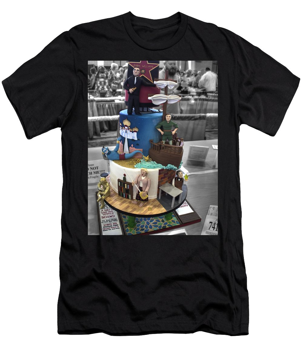 Wedding Men's T-Shirt (Athletic Fit) featuring the photograph Grand National Wedding Cake Competition 741 by John Straton