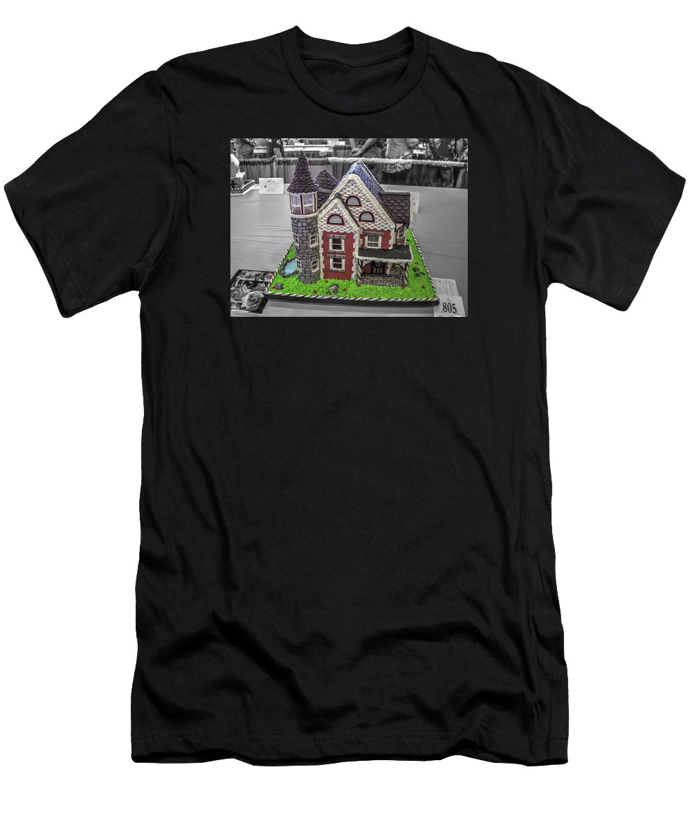 Wedding Men's T-Shirt (Athletic Fit) featuring the photograph Grand National Wedding Cake Competition 805 by John Straton