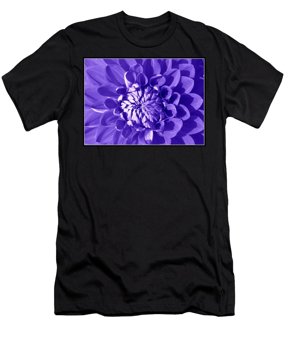 Dahlia Men's T-Shirt (Athletic Fit) featuring the photograph Pretty In Magenta by Dora Sofia Caputo Photographic Design and Fine Art