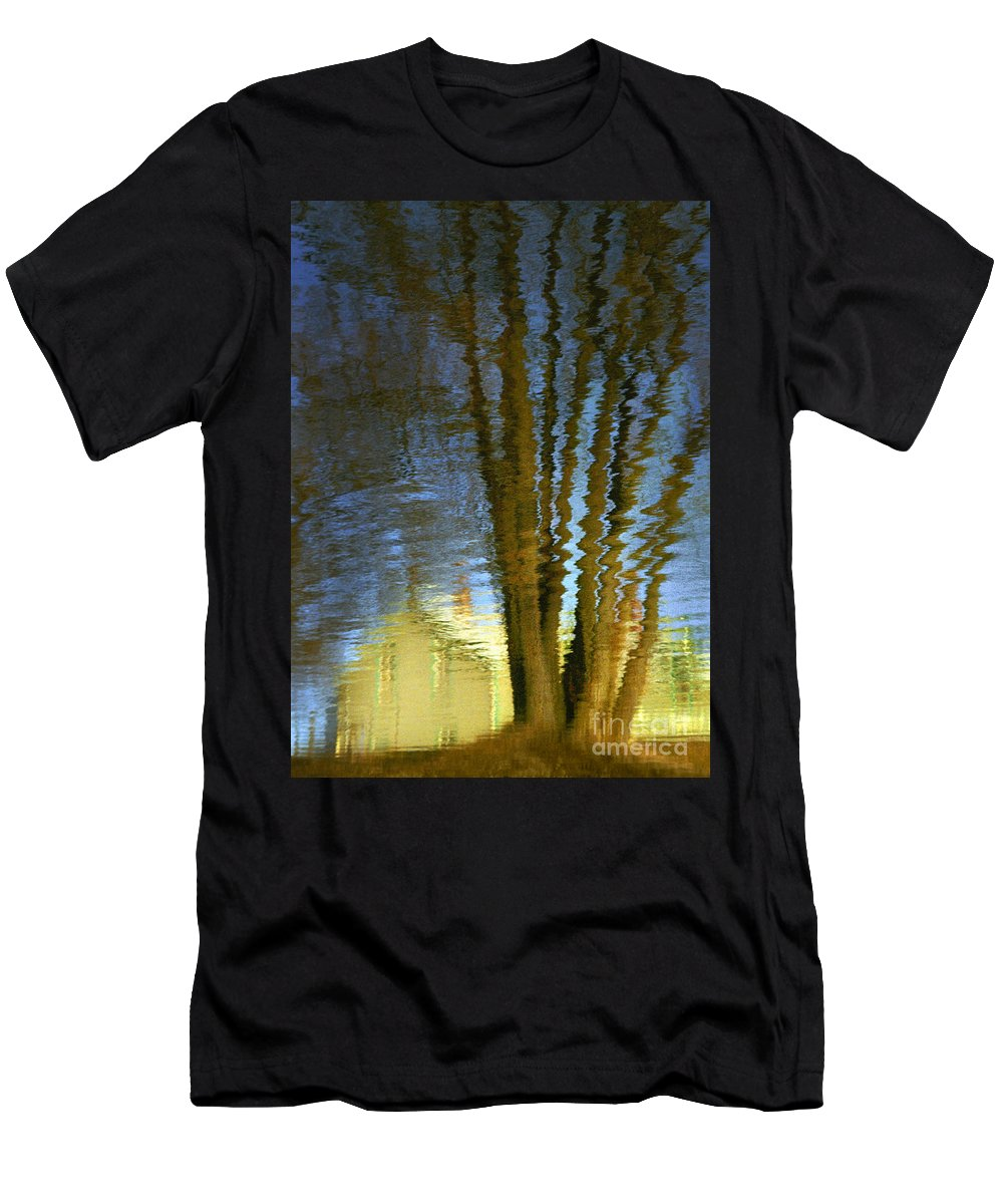 Reflections Men's T-Shirt (Athletic Fit) featuring the photograph Ripples by Robert Marleau