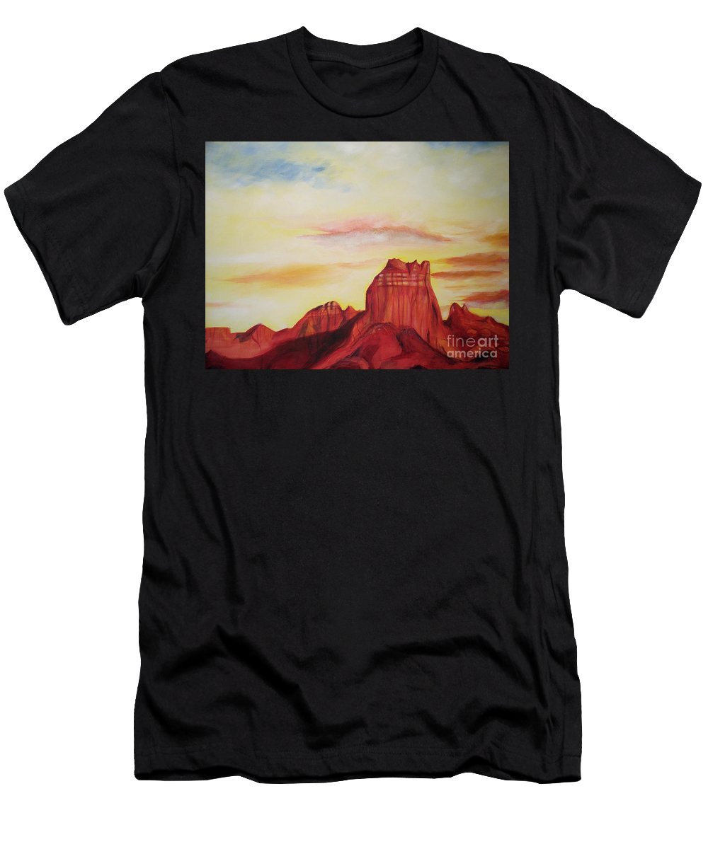 Western Men's T-Shirt (Athletic Fit) featuring the painting Sedona Az by Eric Schiabor