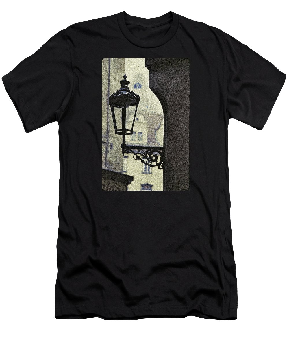 Prague Men's T-Shirt (Athletic Fit) featuring the photograph September In Prague by Ira Shander