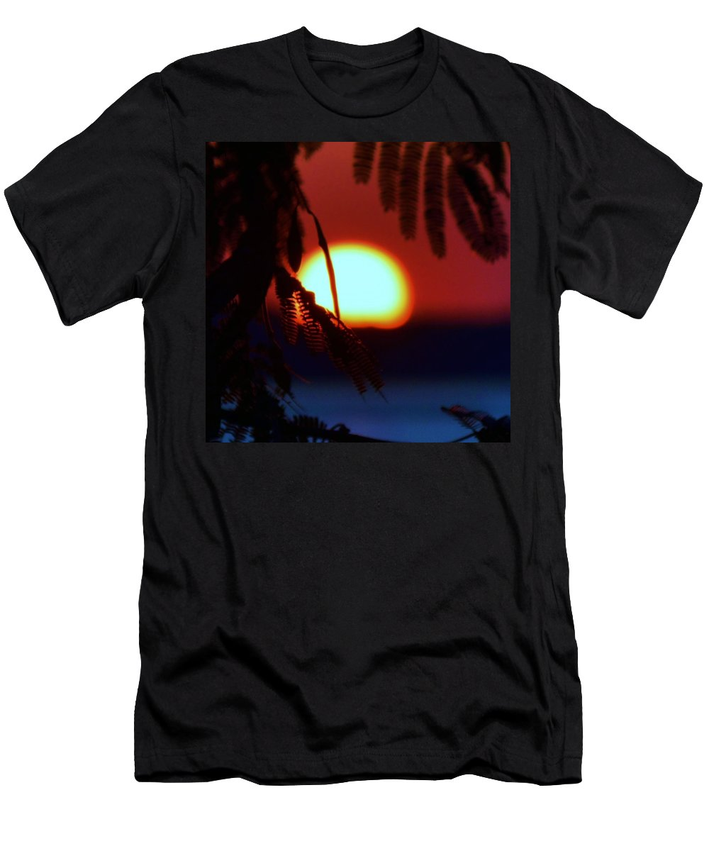 Beach Bum Pics Men's T-Shirt (Athletic Fit) featuring the photograph Sun Fusion by William Bartholomew