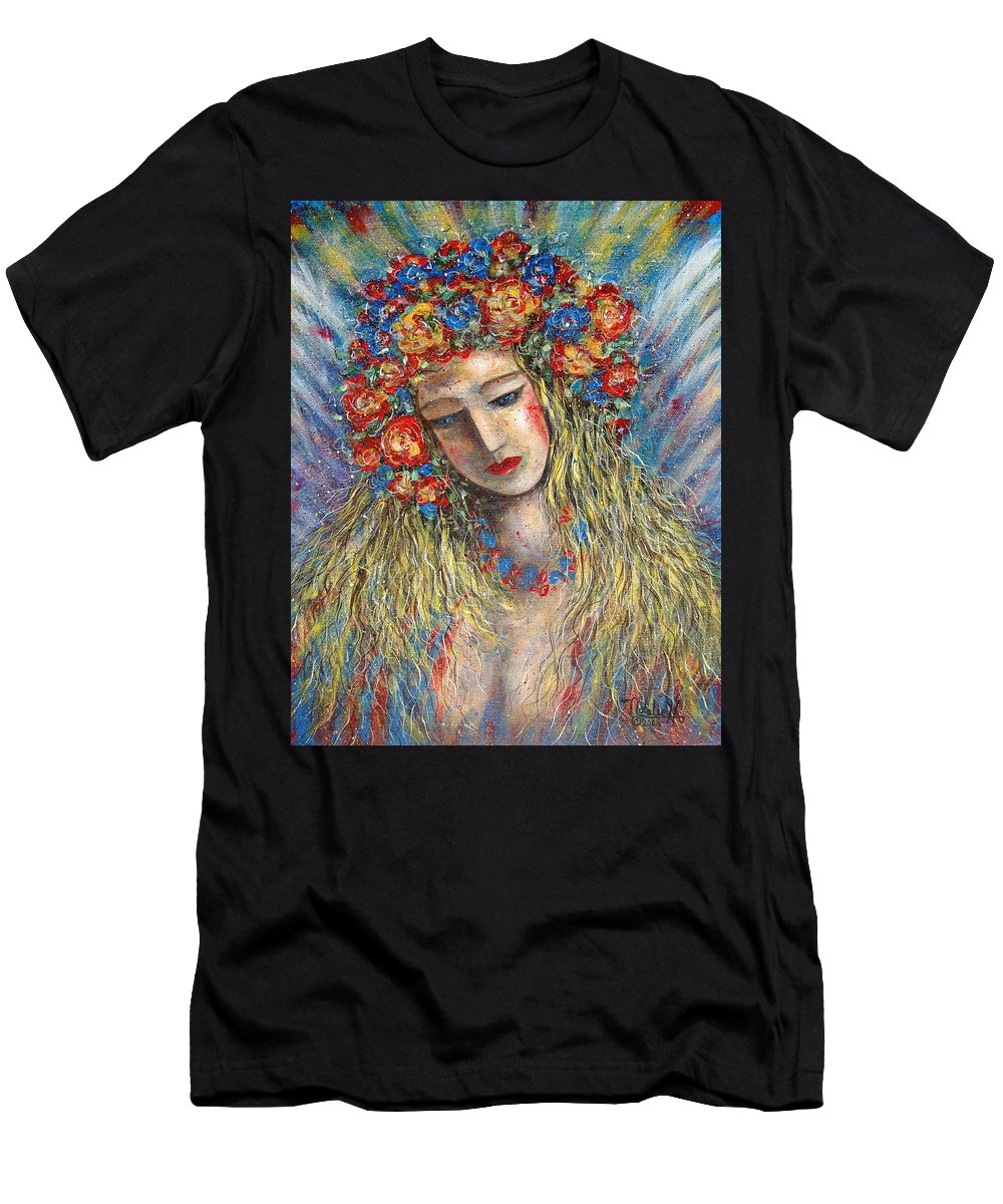 Painting Men's T-Shirt (Athletic Fit) featuring the painting The Loving Angel by Natalie Holland