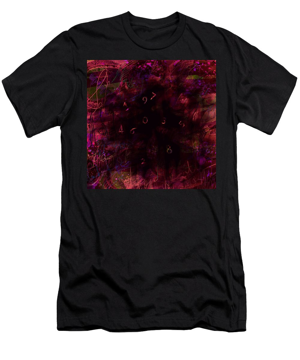 Abstract Men's T-Shirt (Athletic Fit) featuring the digital art 0 Through 9 by Rachel Christine Nowicki