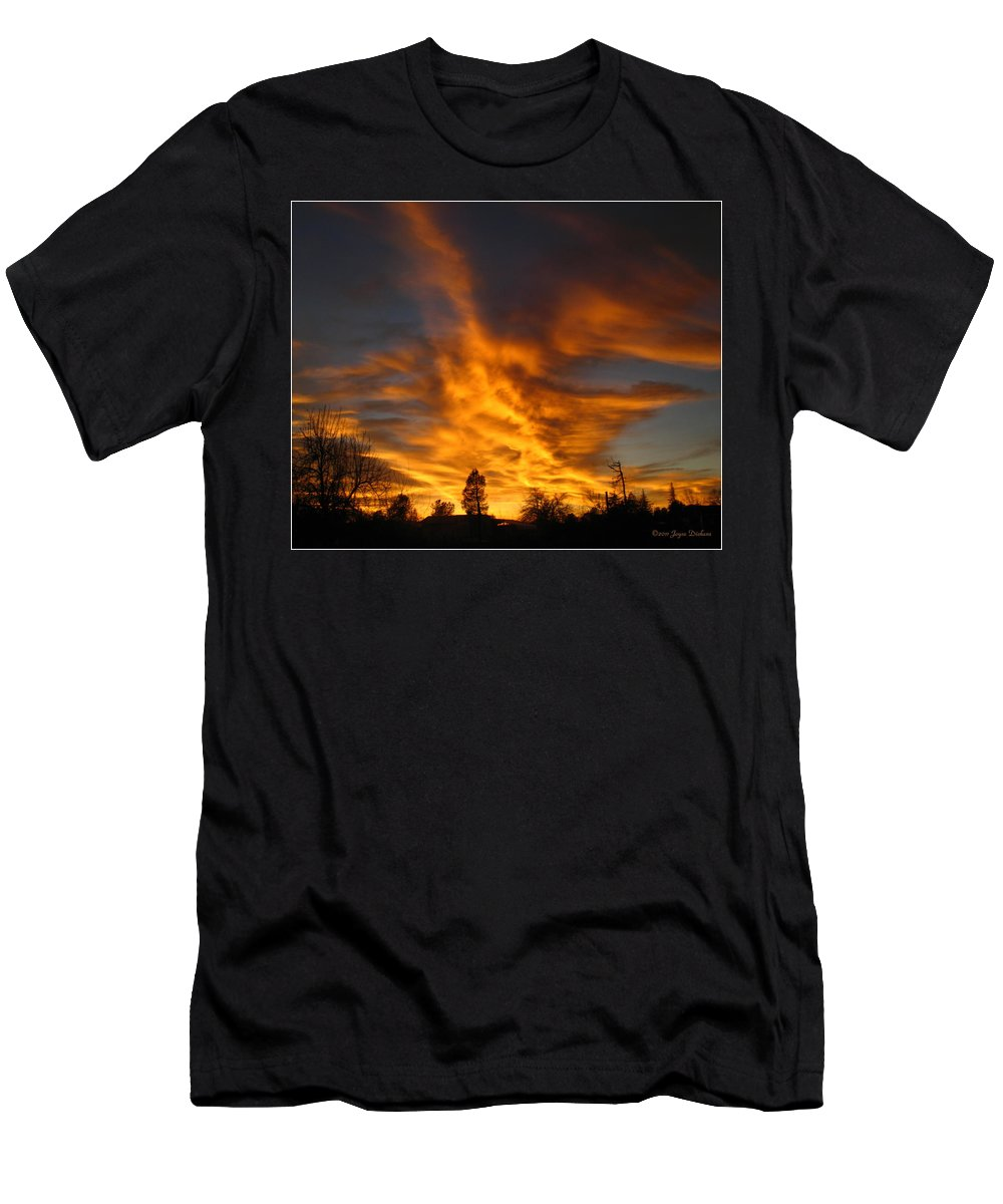 Sunset Men's T-Shirt (Athletic Fit) featuring the photograph 02 05 11 Sunset Two by Joyce Dickens