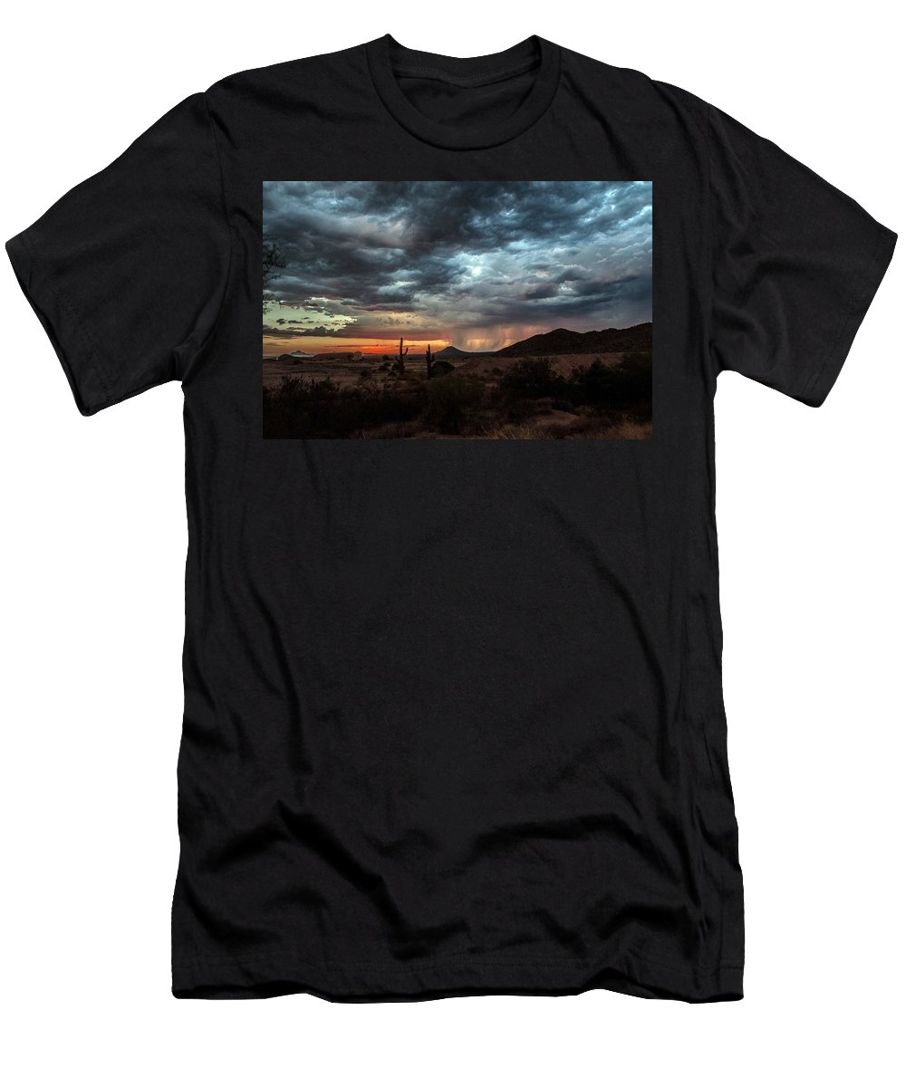 Sunset Men's T-Shirt (Athletic Fit) featuring the photograph Sunset by Tam Ryan