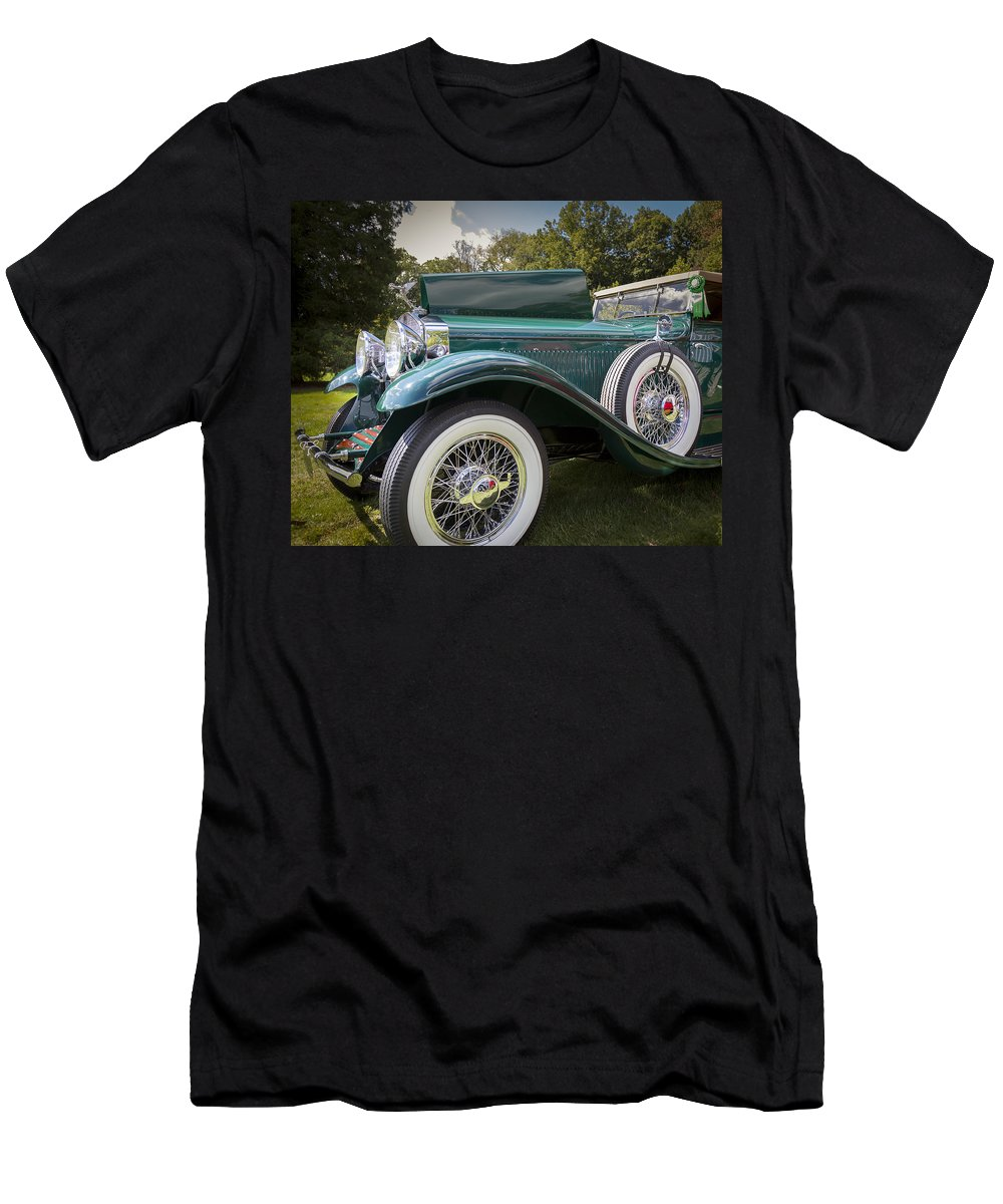 Antique Men's T-Shirt (Athletic Fit) featuring the photograph 1929 Isotta Fraschini Tipo 8a Convertible Sedan by Jack R Perry