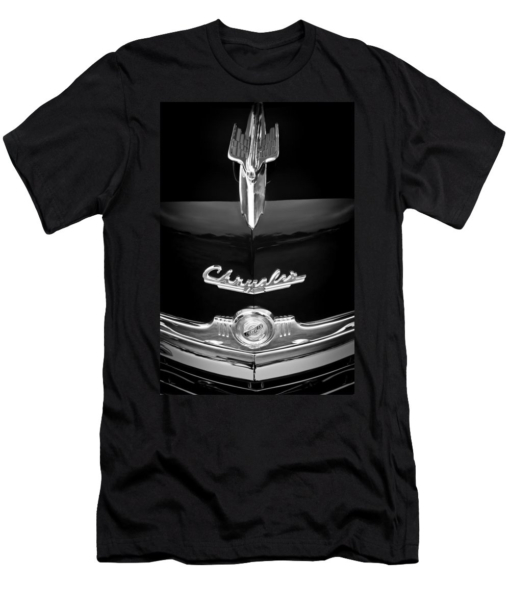 1949 Chrysler Town And Country Convertible Hood Ornament And Emblems Men's T-Shirt (Athletic Fit) featuring the photograph 1949 Chrysler Town And Country Convertible Hood Ornament And Emblems by Jill Reger