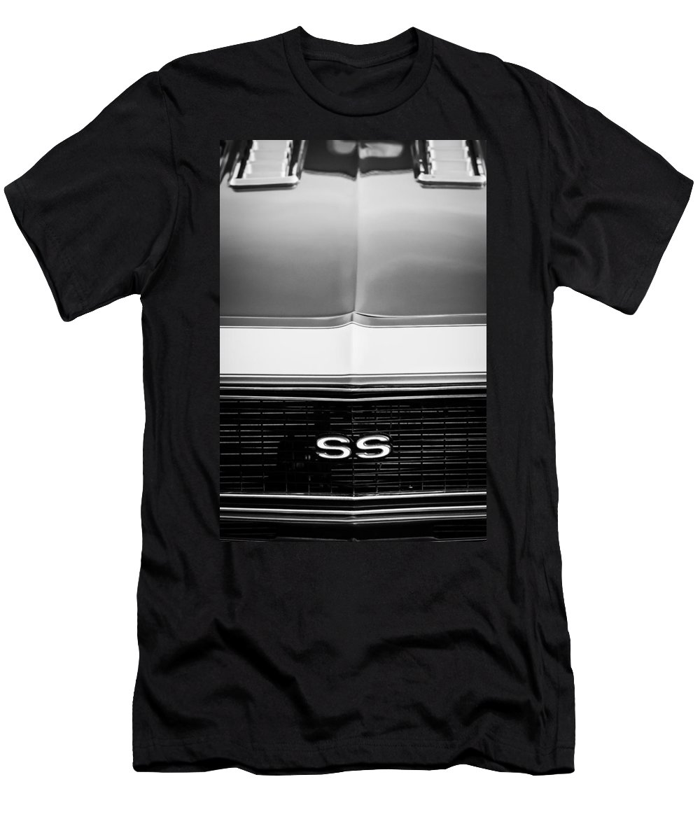 1968 Chevrolet Camaro Ss Grille Emblem Men's T-Shirt (Athletic Fit) featuring the photograph 1968 Chevrolet Camaro Ss Grille Emblem by Jill Reger