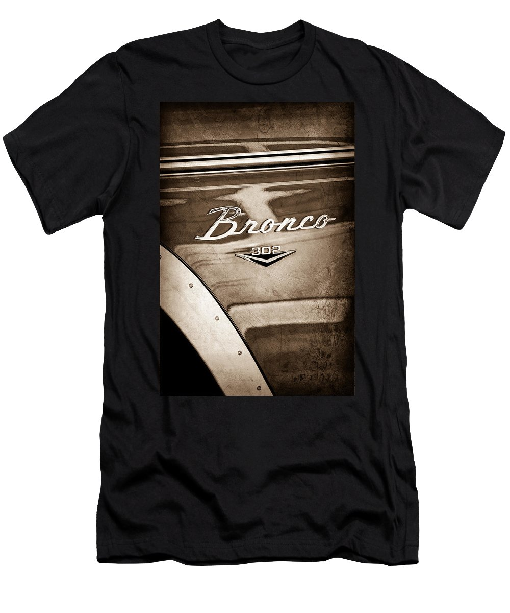 1972 Ford Bronco Emblem T-Shirt featuring the photograph 1972 Ford Bronco Emblem by Jill Reger
