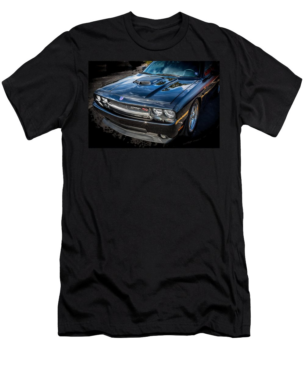 Dodge Men's T-Shirt (Athletic Fit) featuring the photograph 2010 Dodge Challenger Rt Hemi  by Rich Franco
